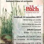 Concert de cantates de J.S. Bach