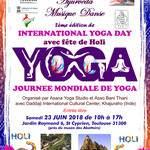 Journée mondiale de yoga et Holi
