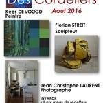 F STREIT, sculpteur, K DE VOOGD, Peintre et JC LAURENT, photographe