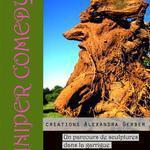 the juniper comedy - un parcours de sculptures dans la garrigue - création d'alexandra gerber